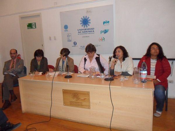 José Luis Cabezas, Carmen Andrade, Teresa Valdés, Alejandra Valdés, Olga Segovia y Verónica Dos Anjos