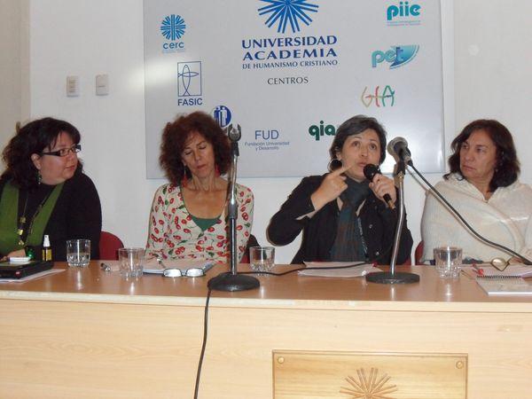 Natalia Flores, Marisol Saborido, María Paz Becerra y Olga Segovia