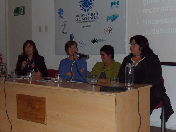 Francisca Oròstica, Teresa Valdés, María Cristina Huerta y Valeria Leal