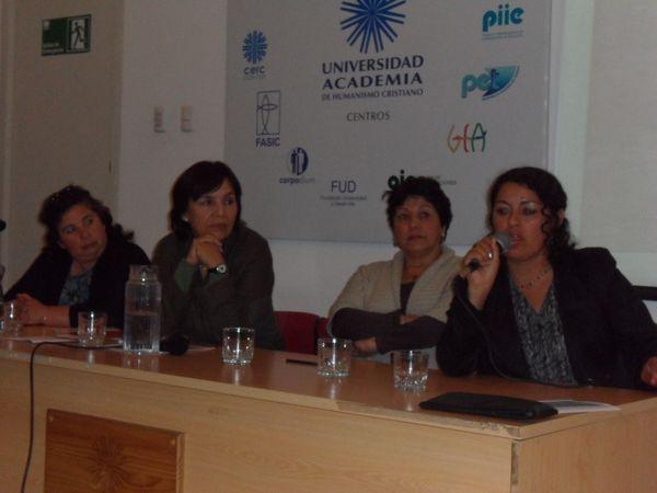 Miriam Espinoza, Carmen Andrade, Benedicta Aravena y Sara Garrido
