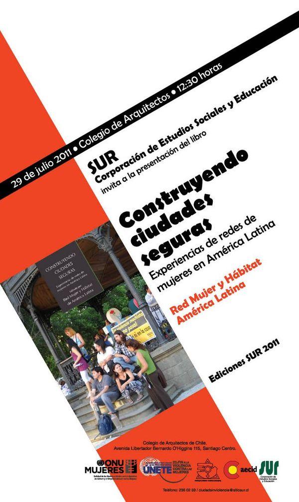 AFICHE LIBRO CONSTRUYENDO CIUDADES SEGURAS 15-07-2011